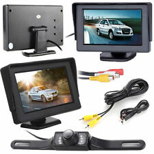 4.3'' TFT LCD Car Rear View Reverse Monitor +7 LED IR Whaterproof Back Up Camera