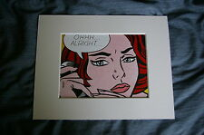 NEW roy lichtenstein pop art picture ohhh alright fine art lithographic mounted