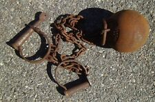 Yuma Cast Iron Ball & Chains Leg Irons Cuffs Yuma Prison