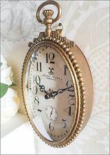 New Vintage Clock Distressed Antique Glass Hanging Metal French Carriage Beaded