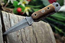 """6"""" CUSTOM MADE DAMASCUS STEEL MINI DAGGER NECK KNIFE   UK-322"""