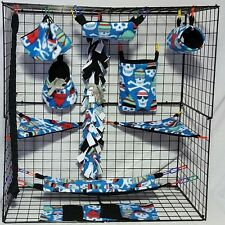 winter skulls * 15 PC Sugar Glider Cage set * Rat * double layer Fleece