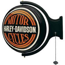 HARLEY-DAVIDSON MOTORCYCLES LIGHTED ROTATING PUB SIGN HDL-15622
