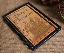 "COUNTRY "" SIMPLE PLEASURES"" berry basket 80 page  journal notebook /nice"