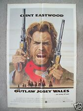 THE OUTLAW JOSEY WALES * 1976 ORIGINAL MOVIE POSTER ONE SHEET CLINT EASTWOOD NM