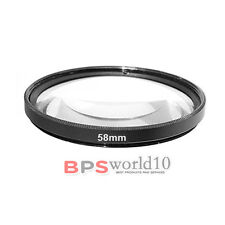 Macro Close Up Lens Filter +1 +2 +4 +10 58mm For Canon EOS EF-S 18-55mm Nikon