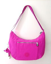 NWT Kipling Womens Jazmyn Shoulder Bag With Furry Monkey Pink Orchid