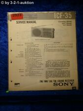 Sony Service Manual ICF 35 4 Band Receiver (#2923)