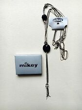 BNWT MIKEY LONDON NECKLACE SILVER BLACK MULTI CHAIN gemstone PENDANT SOLD OUT