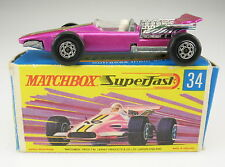 MATCHBOX Superfast No 34 - Formular 1 Racing Car - in OVP - Lesney - with Box