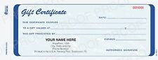 Personalized GIFT CERTIFICATES for your business!