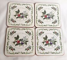Portmeirion Holly and The Ivy Cake Drink Coasters x 4
