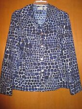 "Chicos ZENERGY 1 Blue Silver Jacket_Underarms21.5"" Slvs23.5"" Lngth24.5"" Ret $99"