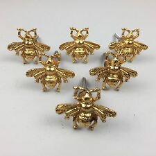 New lovely SET 6 X GOLDEN BEE METAL KNOB - Knob Home decor drawer pull