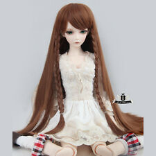 "7-8"" 1/4 BJD Wig MSD Wig Hair Dollfie EID Luts DOD AOD SOOM Brown Braid WIG #111"