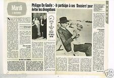 Publicité advertising 1981 (2 pages) Philippe De Gaulle