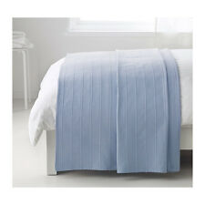 "Ikea Throw Rug Bedspread Blanket Bed Couch 100% Cotton 150x250cm / 59x98"" Blue"