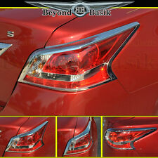 Fits 2013-2015 Nissan Altima Sedan Chrome Tail Light Bezel Trim Overlay Covers