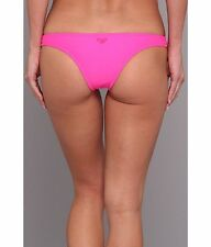 New Roxy Itsy Bitsy Bikini Bottom Women Swimwear Pink Swimsuit Large
