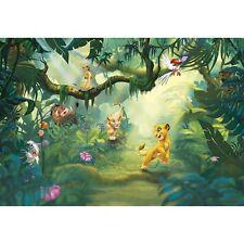 8-475 - RE LEONE DISNEY Multicolore Jungle KOMAR CARTA DA PARATI