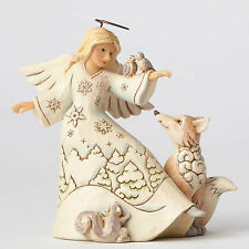 Jim Shore Heartwood Creek White Woodland Angel Blessed Be All Creatures 4053693