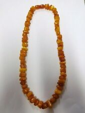 Vintage 60's 70's Baltic Amber Necklace from Russia / USSR. Weigh 35.9 gr