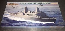 Cyber Hobby USS San Antonio LPD-17 with MV-22B 1/700 ship model kit new 7096