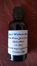 White Willow BARK TINTURA - (acido salicilico) Bio Organico ~ Herbal ASPIRINA 50ml