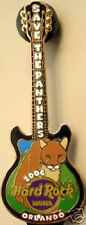Hard Rock Hotel ORLANDO 2006 Save The Panthers Guitar PIN Earth Day