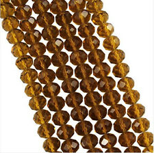 FACETED RONDELLE CRYSTAL GLASS BEADS 3x4mm 4x6mm 6x8mm