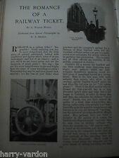 Railway Train Tickets Ticket Collecting Secret Long Life Antique Articles 1904
