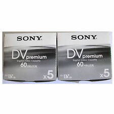 10 Sony Mini DV MiniDV 60/90 min minutes premium DVC tapes NEW FreeShip au