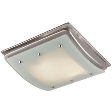 Bathroom 100-CFM Exhaust Fan Light Ceiling Mount Bath Air Vent Brushed Nickel