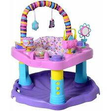 Evenflo ExerSaucer Sweet Tea Party Toddler Activity Chair Saucer Toy Infant Seat