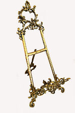 "Solid Brass Decorative Brass Easel 21"" ~ Picture Stand New"