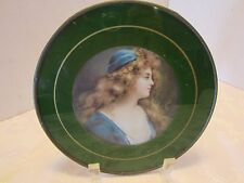 Victorian art reverse painted glass print metal 1900-1949 open edition Litho 7.5