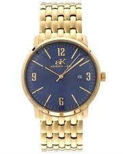ADEE KAYE MEN'S AK8224-LG-BL YELLOW COLOR STAINLESS STEEL DATE WATCH. BRAND NEW
