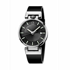 Calvin Klein Men's CK Worldly Dress Watch in Black Leather Strap, K4A211C3