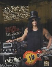 Guns N' Roses Slash for Roland GR-55 Guitar Synthesizer ad 8 x 11 advertisement