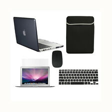 "5 in1 Crystal BLACK Case for Macbook PRO 15"" Retina +Key Cover +LCD + Bag +Mouse"