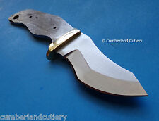 Knife Making Blade Blank with Brass Finger Guard - Hunting Skinning