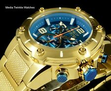 Invicta Speedway XL BLUE DIAL Swiss Parts Chronograph Gold Tone Bracelet Watch