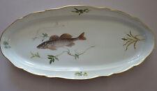 Meissen große Fischplatte oval - 1 Fisch - Fischmalerei 56,4 x 27,4 cm   1.Wahl