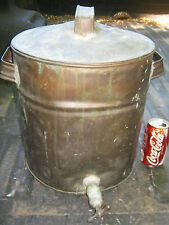 ANTIQUE COUNTRY PRIMITIVE COPPER SPIGOT STILL BOILER POT WHISKY PROHIBITION ART