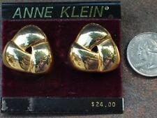 New Original Card Old Stock ANNE KLEIN Goldtone Polished Pierced Earrings #3