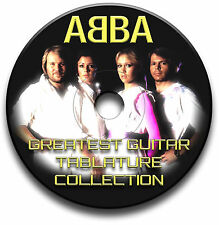 ABBA POP ROCK GUITAR TABS TABLATURE SONG BOOK ANTHOLOGY SOFTWARE CD
