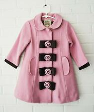 *COCO BON BONS* Boutique PINK Brown Candy Bow Dress Coat Winter Jacket GIrls 2T