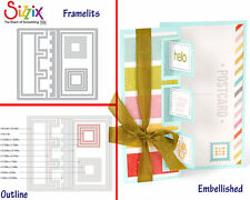 Sizzix Framelits Die Set - 659178 Triple Square Flip-its Card by Barnard (10PK)