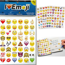 48 Die Cut Emoji Smile Face Sticker Pack IPhone Android Laptop Decor Stickers