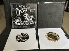 "Defeatist 2 X 7"" LOT Kursk Level Plane Records Hardcore Grindcore"